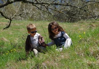 balade à la campagne en famille