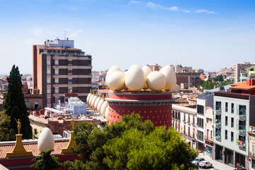 Top view of  Dali Theatre and Museum  in Figueres