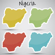 stickers in form of Nigeria