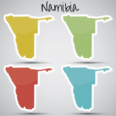 stickers in form of Namibia