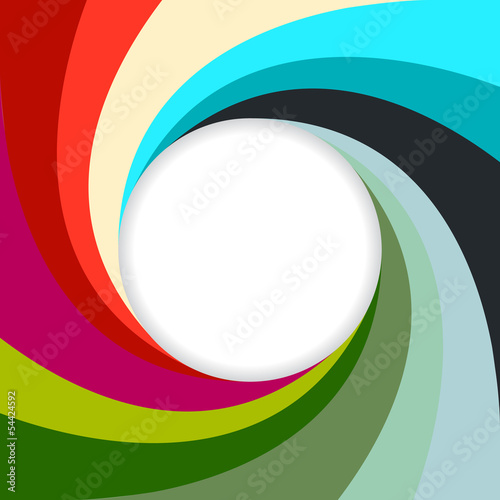 Abstract swirling background with white space