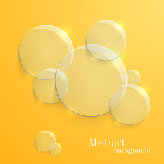 Vector Abstract Background with Glass Glossy Circles