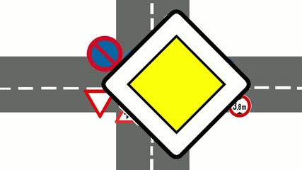 Traffic signs animation