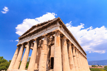 Ancient Agora temple at Athens