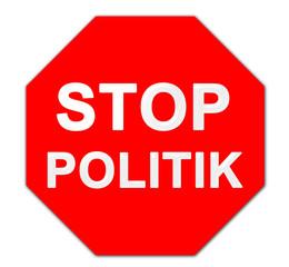 Stop Politik Schild