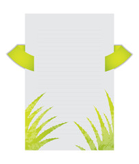 flyer with aloe vera design