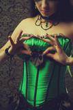 Fairy in green corset