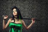 Pretty green fairy