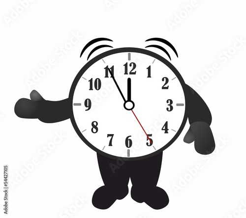 Alarm clock - cartoon