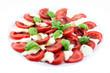 Tomate und Mozarella