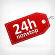 Red leather 24h nonstop labels