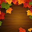 Vector Illustration of an Autumn Background with Leaves