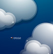 Glass 3d clouds vector template