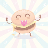 Cute Burger Monster