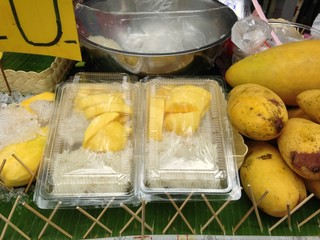 popular Thai dessert, mango with sticky rice