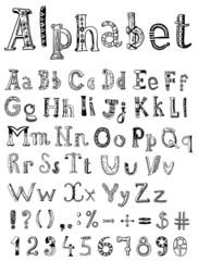 sketching alphabet