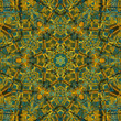 Shining Yellow and Teal Mandala Star
