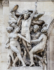La Danse, sculpture on the facade of the Paris Opera