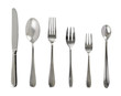 Set of steel metal table cutlery