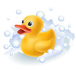 Rubber duck in foam - 54429733