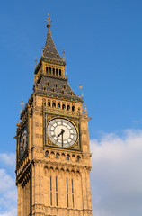 Big Ben Elizabeth Clock Tower in Westminster London England.
