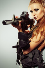 aim a gun