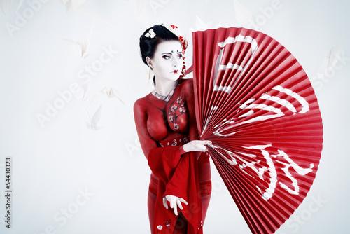 Fototapeten,mädchen,fan,exotisch,japan