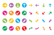 Web arrow icons