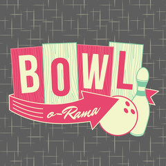 1950s Bowling Style Logo Design
