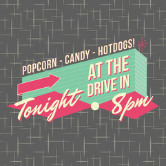 1950s Drive-In Style Logo Design