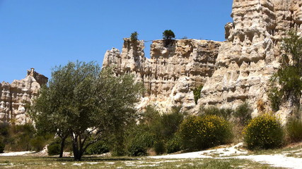 Formations of the organpipes of  Ille sur Tet, France