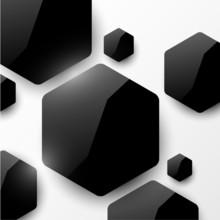 Vector fond géométrique brillant