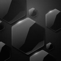 Vector geometric glossy background