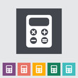 Calculator flat icon.