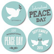 Peace Day Stickers Collection
