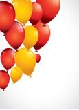 ballons oranges et jaunes aux couleurs de l'espagne
