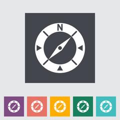 Compass flat icon.
