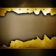 cracked golden plate