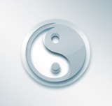 yin yang  light background