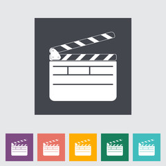 Director clapperboard flat icon.