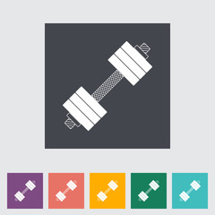 Dumbbell flat icon.