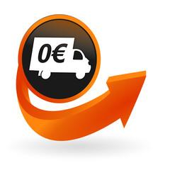 livraison gratuite sur web bouton flèche orange