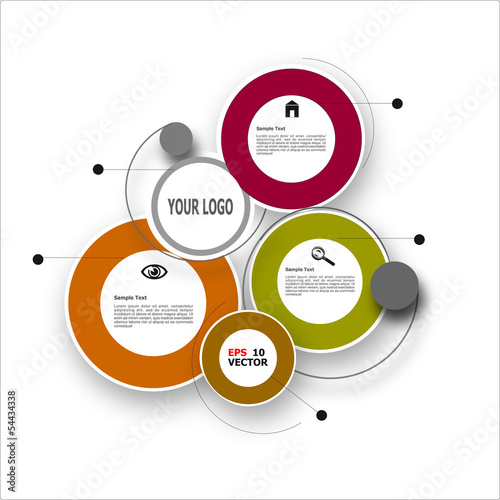 Web and business vector template