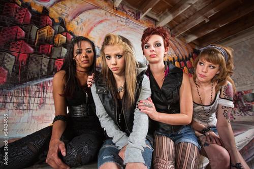 Sad Group of Girls