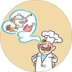 funny cartoon cook