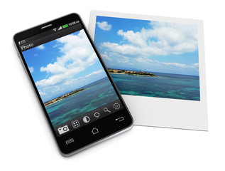 Mobile photo editing application