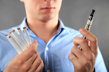 Choice between cigarette and e-cigarette