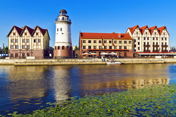 Fishing village. Kaliningrad (until 1946 Koenigsberg), Russia