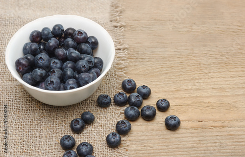 Fresh bilberries in a bowl