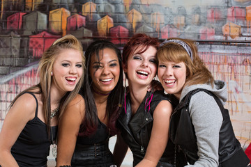 Group of Cute Teens Laughing